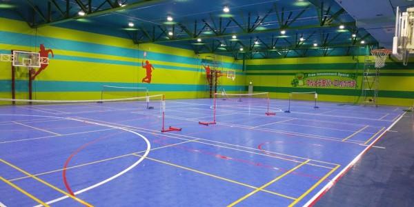 体育できます~スポーツコート(バドミントン、バスケット、フットサル)